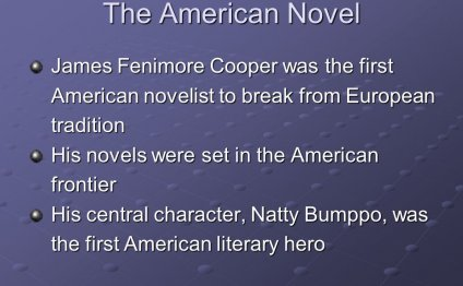 First American novelist to