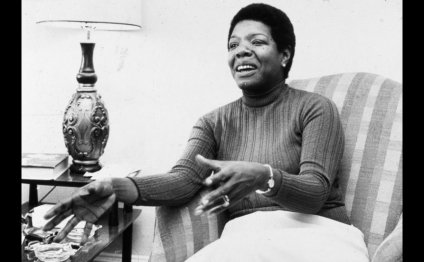 Angelou speaks during an