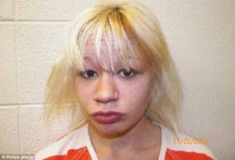 Lock-up: The teenager was taken to York County Jail where she remained today